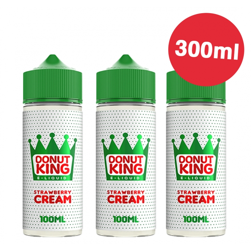 3 x 100ml Strawberry Cream - Donut king - LIQUIDATION
